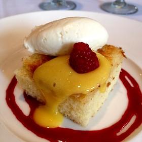 Brown Butter Lemon Cake - Las Canarias - Omni La Mansion, San Antonio, TX