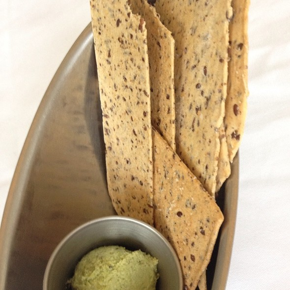 Flaxseed Bread And Edamame Spread - Blue Bamboo Restaurant and Wine Bar, Jacksonville, FL