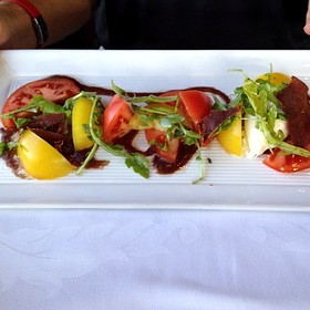 Tomato Salad - Seven Glaciers, Girdwood, AK