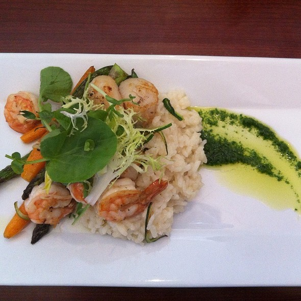 Prawn & Scallops With Risotto - Blue Crab Seafood House - Coast Victoria Hotel & Marina by APA, Victoria, BC