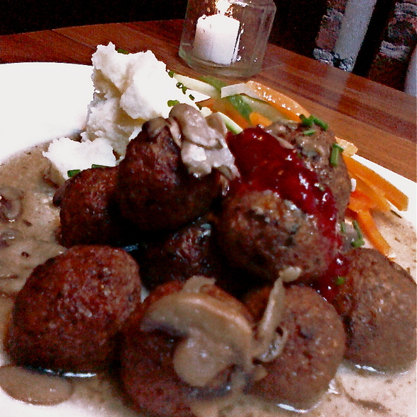 Vegetarian Swedish 'Meatballs' & Lingonberries - Smorgas Chef Wall Street, New York, NY