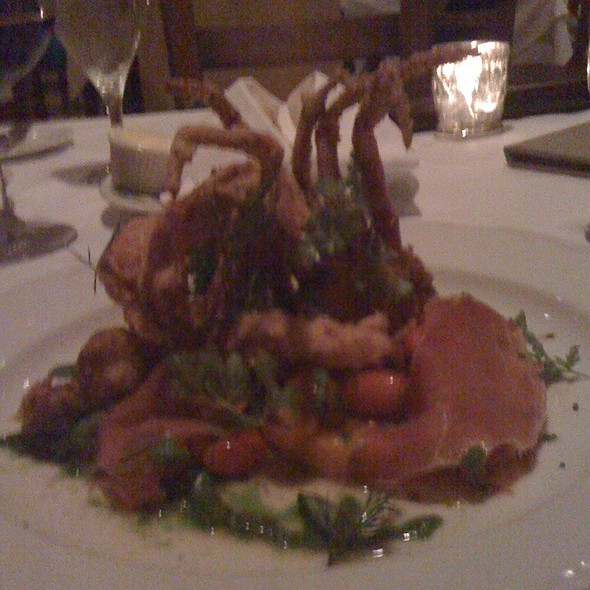 Crispy Softshell Crab, Heirloom Tomatoes, Country Ham & Garden Basil Pistou - La Provence - New Orleans, Lacombe, LA