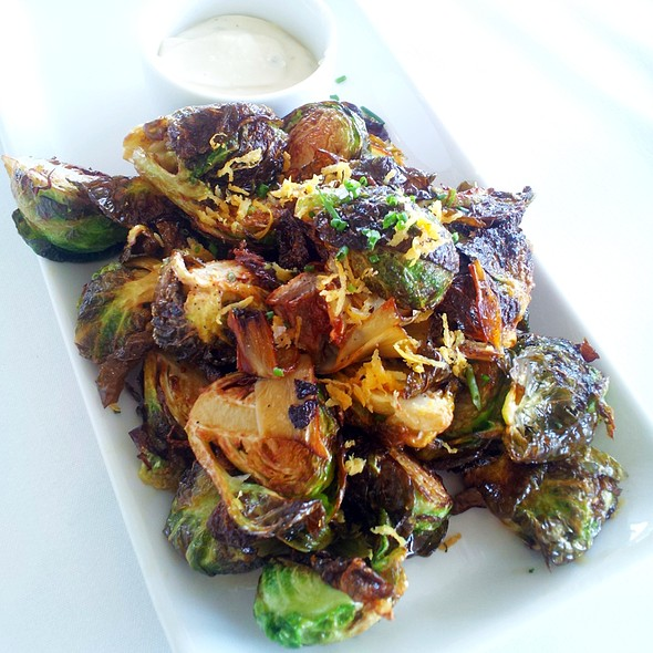 Crispy Brussels Sprouts and Artichoke Hearts - Up Restaurant, Houston, TX