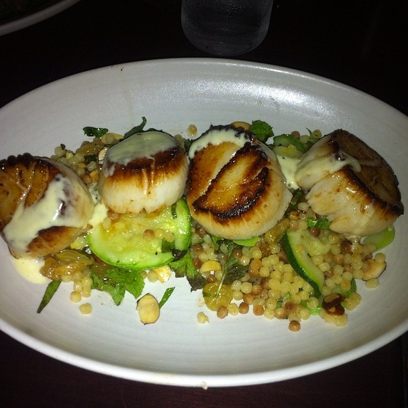 Seared Scallops With Couscous - CRU Nantucket, Nantucket, MA