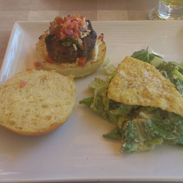 Lamb Burger with Chick Pea Salad - Paradiso Restaurant - Oakville, Oakville, ON