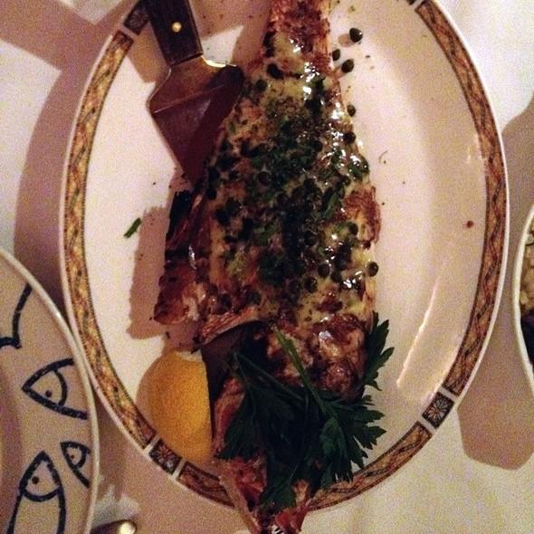 Grilled Red Snapper - Kellari Taverna, New York, NY