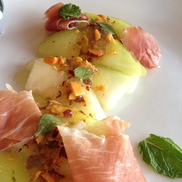 Summer Melon Salad With Toasted Almonds, Speck And Mint - Rustic Canyon Wine Bar, Santa Monica, CA