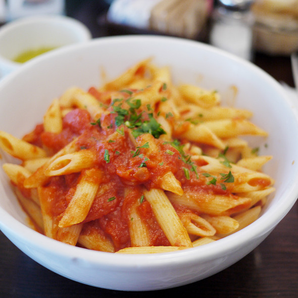 penne with tomato sauce - Fiat Cafe, New York, NY