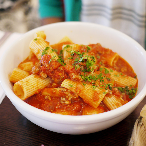 Rigatoni With Bolognese - Fiat Cafe, New York, NY