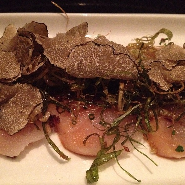 White Salmon Sashimi With Truffle - Oishii Boston, Boston, MA