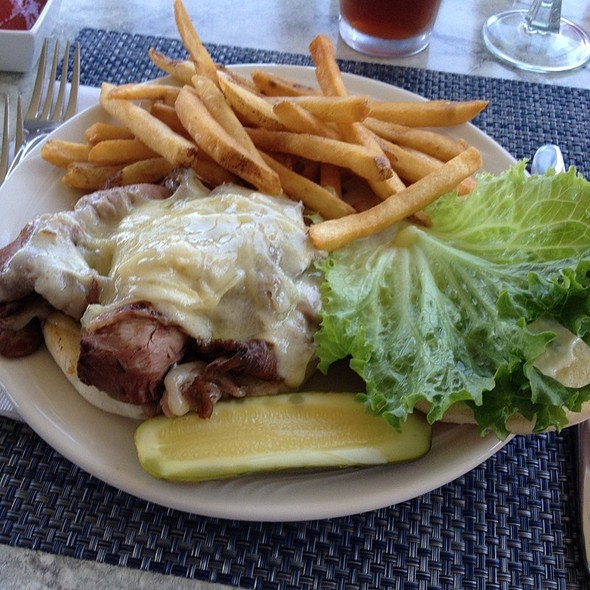 Prime Rib sandwich - Dockside Restaurant on York Harbor, York Harbor, ME