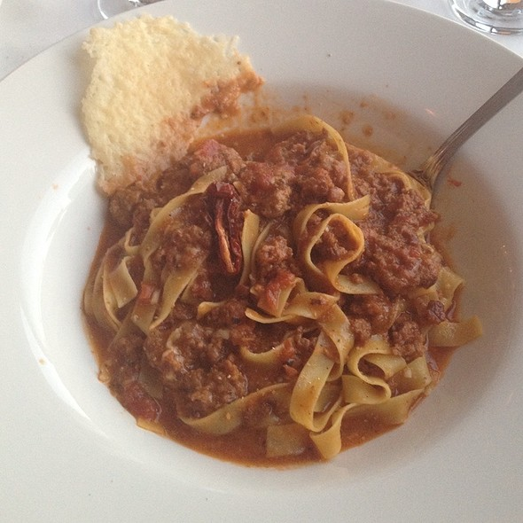 Fettuccine Bolognese - The Rainbow Room by Massimo Capra, Niagara Falls, ON