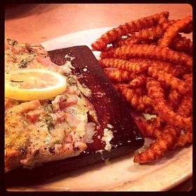 Cedar Plank Salmon - Triple J Chophouse and Brew Co, Lubbock, TX