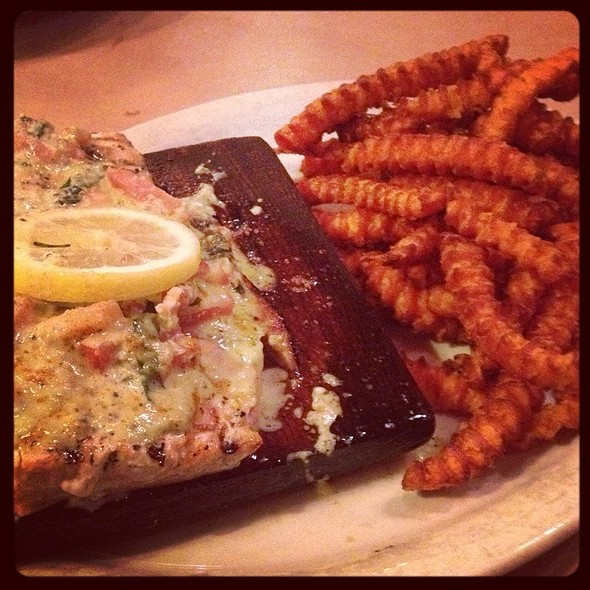 Cedar Plank Salmon - Triple J Chophouse and Brew Co, Lubbock, TX