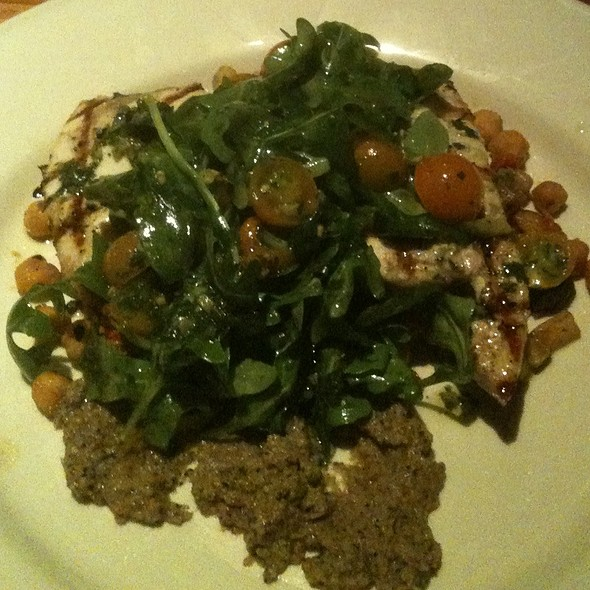 Swordfish W/Golden Tomatoes, Eggplant Puree, Arugula & Chickpeas - Old Ebbitt Grill, Washington, DC