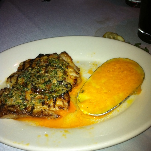 Grilled Grouper w/ Roasted Garlic - 42nd Street Oyster Bar, Raleigh, NC