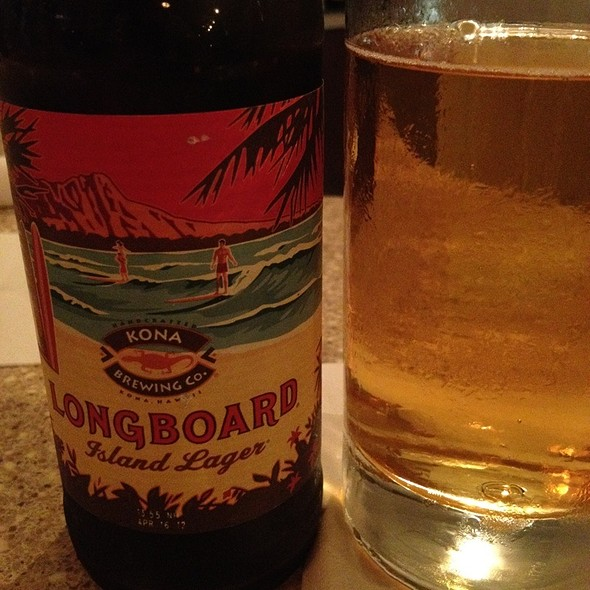 Kona Brewing Longboard Lager - The Bistro at Just Baked, Surf City, NC