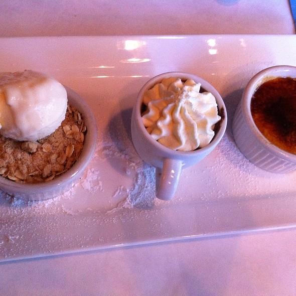 Dessert Trio:  Berry Cobbler, Chocolate Pots De Creme, Creme Brulee - Jake's Grill - Portland, Portland, OR