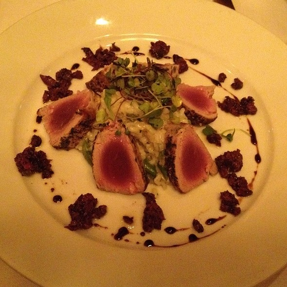 Ginger Crusted Ahi Tuna - The Wild Fig, Aspen, CO