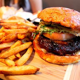 Kobe Beef Burger with Foie Gras - Suite 701 Lounge Restaurant, Montréal, QC