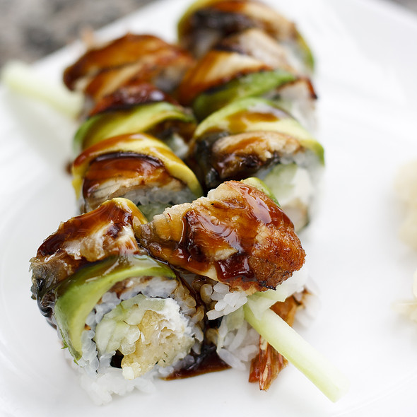 Dragon Roll - The Sit Down Cafe & Sushi Bar, Chicago, IL