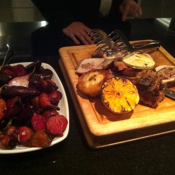 Carmelized Beets & Stuffed Pork Chop - Vivo Ristorante, Edmonton, AB