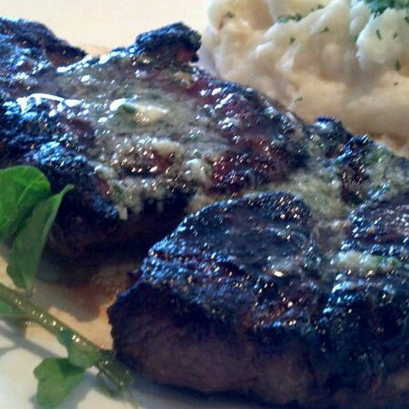 Grilled 10 Oz. Ribeye Steak With Garlic Butter And Mashed Potatoes - Morton's The Steakhouse - Great Neck, Great Neck, NY
