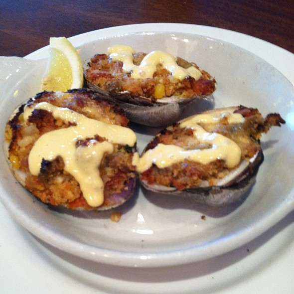 Stuffed Quahogs - Not Your Average Joe's Burlington, Burlington, MA