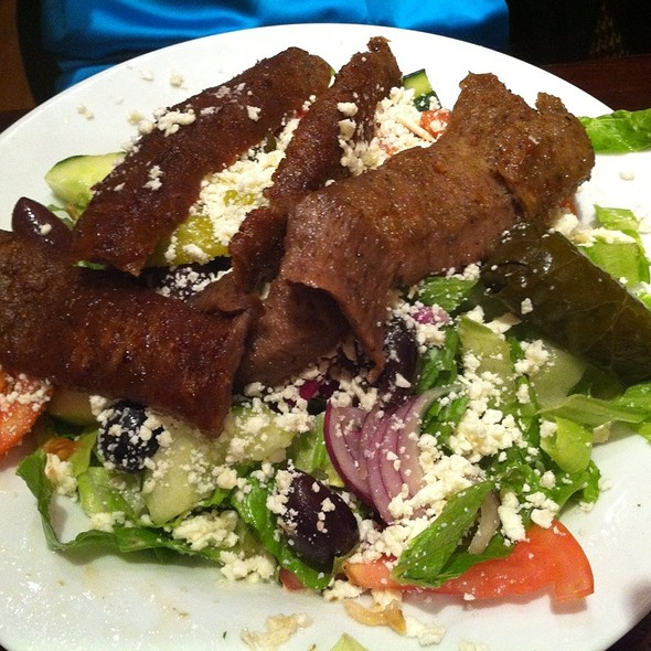 Gyro Greek Salad - Dafni Greek Taverna, New York, NY