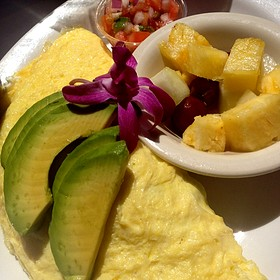 Vegetable omelette with fresh fruit - Island Lava Java Bistro, Kailua, HI