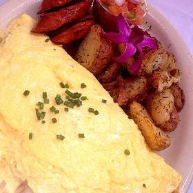 Island Omelette With Kalua Pork And Pineapple - Island Lava Java Bistro, Kailua, HI