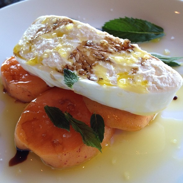 Burrata With Apricots, Balsmic And Mint - Miradoro at Tinhorn Creek Winery, Oliver, BC