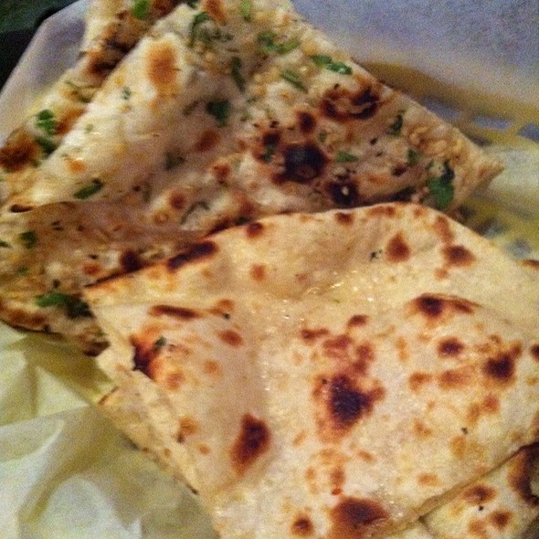 Garlic And Butter Naan - Little India Restaurant - 6th Ave, Denver, CO
