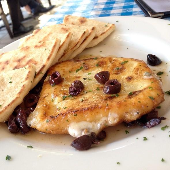 Saganaki (Cheese) - George's Greek Cafe - Pine Street, Long Beach, CA