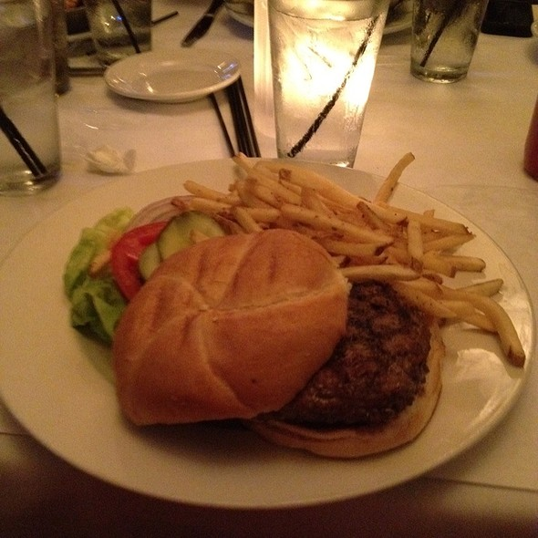 Burger And French Fries - Bijan's Bistro, Chicago, IL
