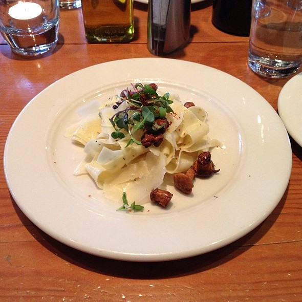 Brown Butter Basted Chanterelle Mushrooms With Pappardella Pasta & Shaved Reggiano - FareStart, Seattle, WA