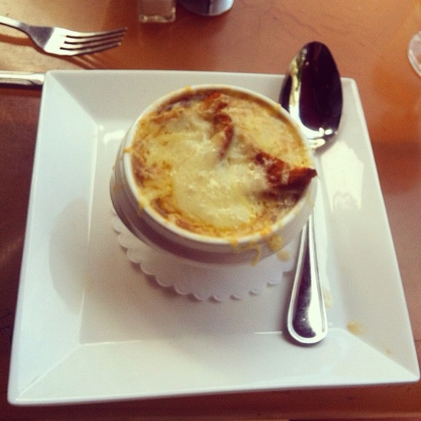 French Onion Soup - Cinema Cafe 34th Street, New York, NY