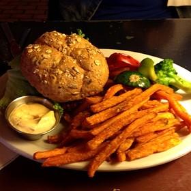 Famous Veggie Burger - Blue Plate Diner, Edmonton, AB