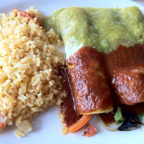 Vegetarian Enchilada - La Torre Mexican Grill, Bloomington, IN