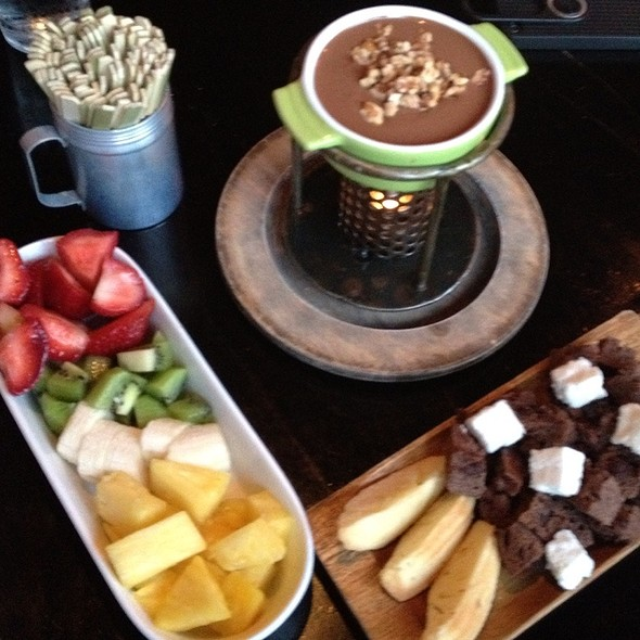 Milk Chocolate Turtle Fondue - Fondue Cowboy, San Francisco, CA