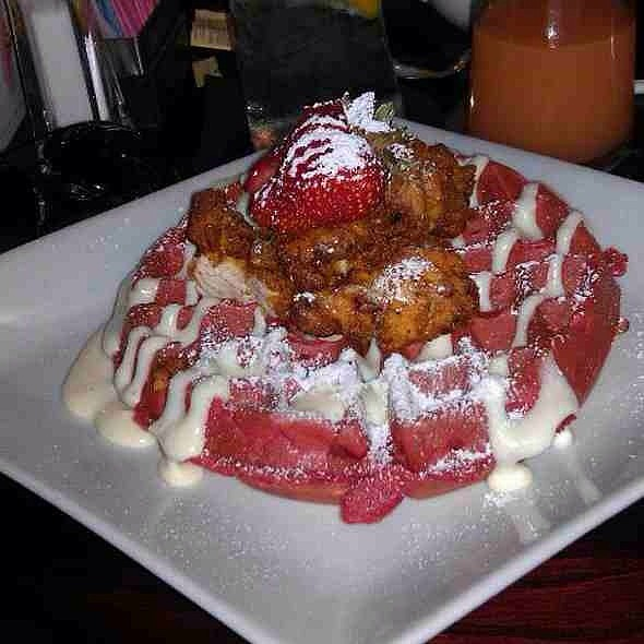Chicken and Red Velvet Waffles - Stewart Penick's Terrace - Southpark, NC, Charlotte, NC