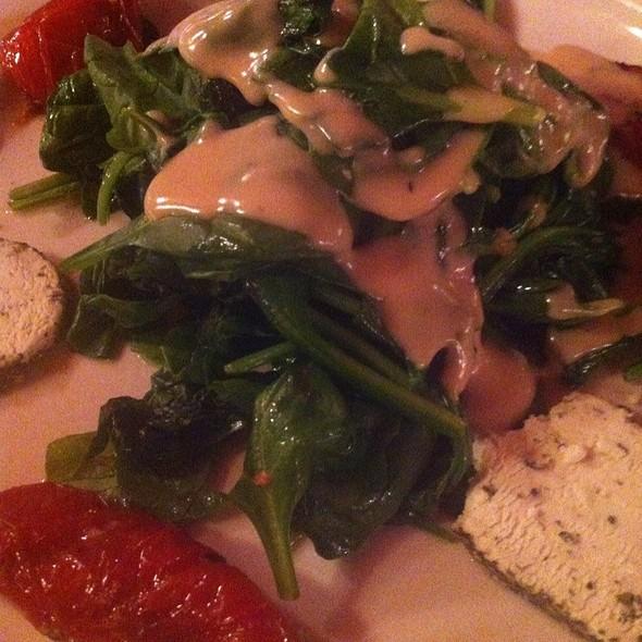 Warm Spinach Salad - Pound & Pence, New York, NY