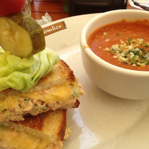 Salmon Melt W/ Tomatoe Soup - Beachcomber Cafe - Crystal Cove, Newport Coast, CA