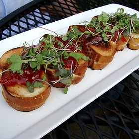 Mini Grilled Goat Cheese Sandwiches w/ Tomato Jam - The Tasting Room - Uptown Park, Houston, TX
