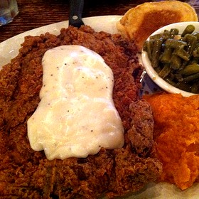 Chicken Fried Steak - Puckett's 5th & Church, Nashville, TN