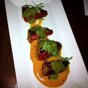 Pork Stuffed Piquillo Peppers - MAX's Wine Dive Dallas - McKinney Ave., Dallas, TX