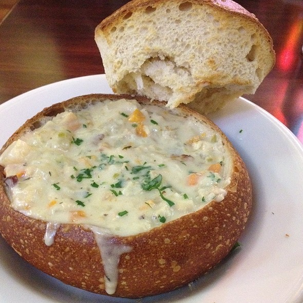 Clam Chowder Bread Bowl - Players Sports Grill & Arcade, San Francisco, CA