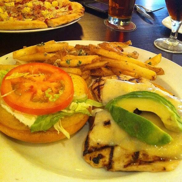 Grilled Chicken & Avocado Sandwich - Gordon Biersch Brewery Restaurant - Plano, Plano, TX