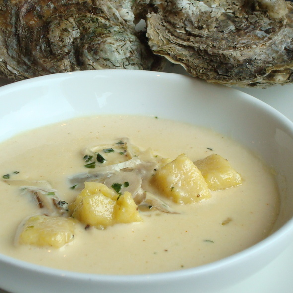 Oyster Pan Stew - Level Small Plates Lounge, Annapolis, MD