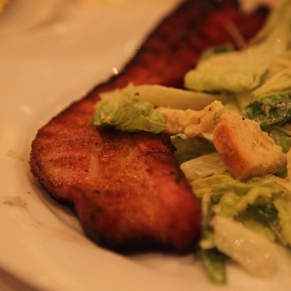 Sizzling Canadian Bacon & Caeser Salad - Benjamin Steakhouse, New York, NY